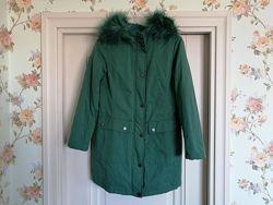 Куртка парка Benetton xs 40 рост 160 зеленая