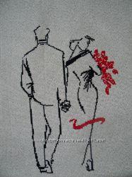 Продам картина Влюбленная пара, вышита нитью