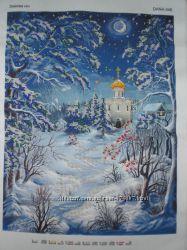 Продам картину Зимова ніч без рамочки.