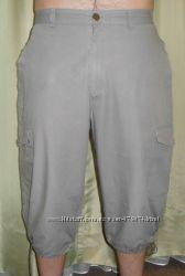 Удлиненные шорты бриджи из хлопка Zara размер Л-ХЛ