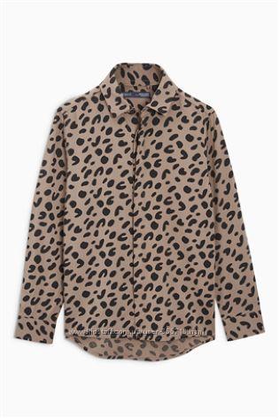Рубаша Next с леопардовим принтом