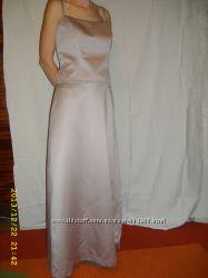 вечернее атласное платье 10 EU  48 RU