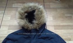 Красивая теплая куртка на мальчика 11-13 лет р S подарок рубашка H&M р 158