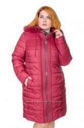 Пальто зимнее большой размер Елена 5 цветов рр 50-62