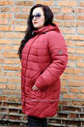 Модная зимняя куртка батал рр  50-56 5 цветов