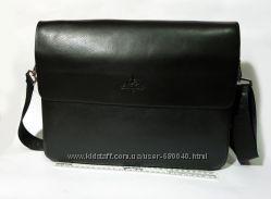 Мужская чоловіча кожаная шкіряна сумка портфель через плечо А4 формата