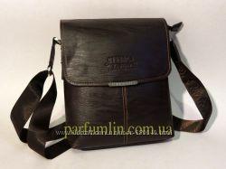 Мужская сумка через плечо темно коричневая арт-1255
