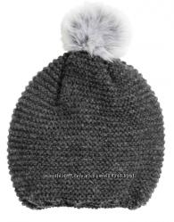 Вязаная шапка с помпоном, размер 8-12у,  бренд h&m