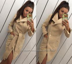 Красивое осеннее кашемировое пальто