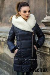 Очень красивая и теплая зимняя куртка. Синтепон и овчина