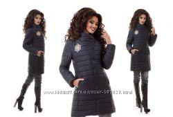 Красивая зимняя удлиненная куртка