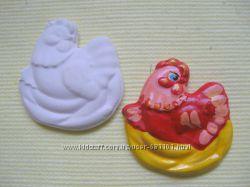 Гипсовые заготовки магнитов-раскрасок для детского творчества.