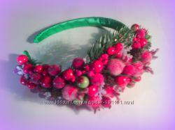 Обруч-ободок Зимние ягоды