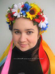 веночки украинские крупноцветные для детей и взрослых