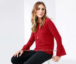 Элегантная блуза с объемным рукавом TCM Tchibo р-ры 36, 40, 48 евро