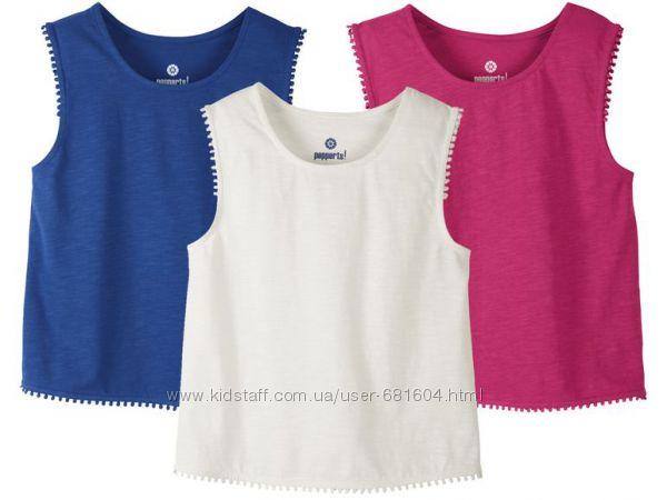 Яркие хлопковые футболки топы PEPPERTS р-р 146152