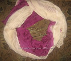 сток большой двухцветный шарф палантин шаль