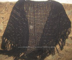 Вязаная крючком шаль платок палантин