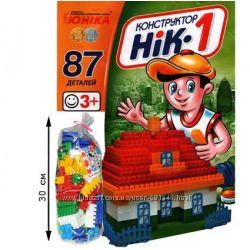 Конструктор Юника НИК-1, 2, 3, 4 5, 6, 7, 8, 9, 10