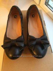 Черные балетки кожа LUCIANO CARVARI 38 размер 24, 5 см по стельке