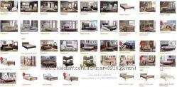 Широкий выбор кроватей  - из дерева, в кожзаме, Малайзия, Украина, Скидки