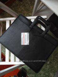 Кожаная папка-портфель для документов