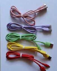 Цветные кабели для зарядки и передачи данных