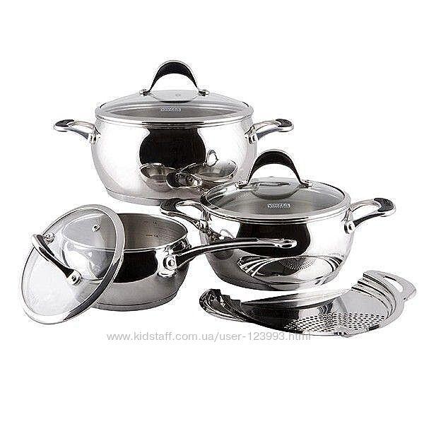 Набор посуды из нержавеющей стали Vinzer винзер Astro 7 предметов 89038