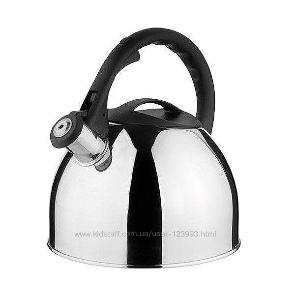 Чайник со свистком из нержавеющей стали Vinzer винзер Concord 2,5л 89004