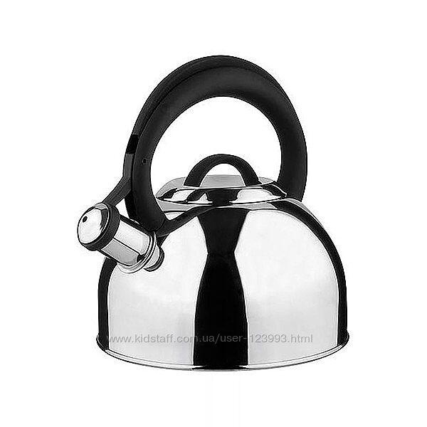 Чайник для индукционной плиты со свистком Vinzer Basel 2,6л 89016