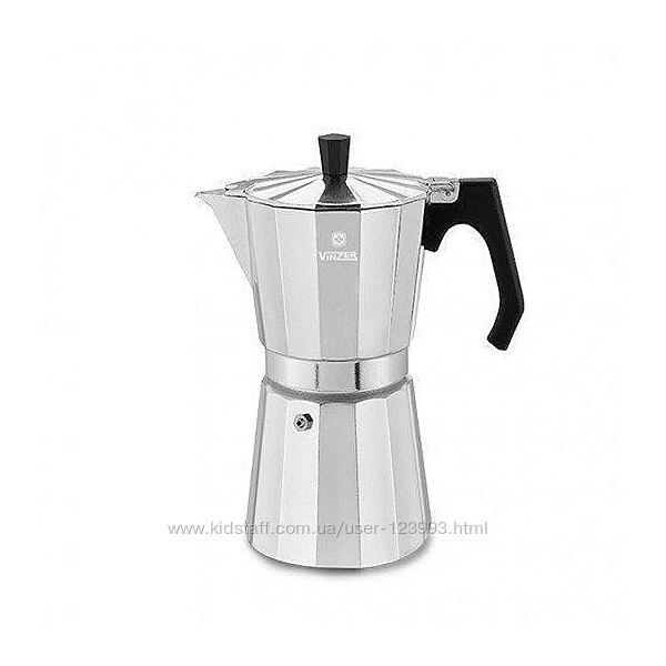 Кофеварка гейзерная из высококачественного пищевого алюминия VINZER Moka Espresso Induction, 9 чашек 89384