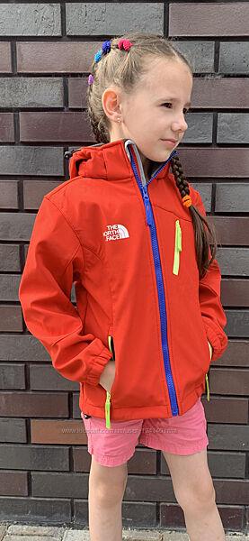 Куртки демисезонные детские для мальчиков и девочек softshell