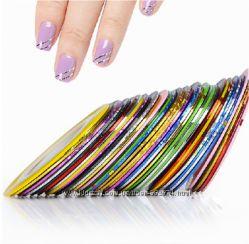 Липкая лента для дизайна ногтей
