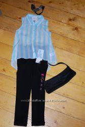 Блуза шифоновая с модным асимметричным низом