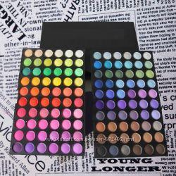 Палитра теней для макияжа 120 цветов. Профессональная палитра для визажа