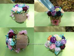 Чашка с тюльпанами