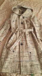 Шерстяное пальто бу  размер 44 -46
