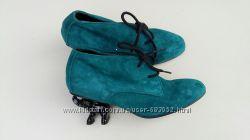 Новые женские ботильоны, ботинки, бренд Maloles, Испания, замшевые, кожаные, 38