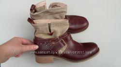 Новые женские ботинки, ботильоны, бренд Andre, кожаные, 38 р.