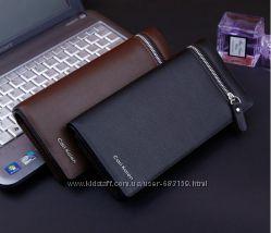 Мужской кожаный клатч кошелек портмоне Cari Kaien