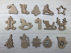 Новогодние украшения, игрушки на елку, ялинкові прикраси