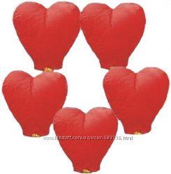 Небесные фонарики - сердце. Большой 1м. 10шт.