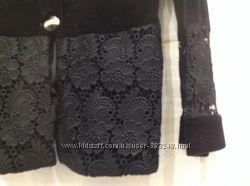 Черный велюровый с кружевами костюм, M, LFRANK FASHION