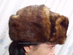 Натуральная норковая шапка, не обманка