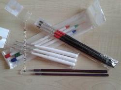 Кисти для дизайна ногтей линеарные, бамбуковые