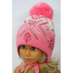 Недорогие теплые шапули для девочек, разные модельки