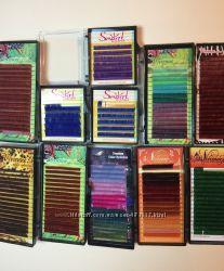 Распродажа цветных ресниц Viviene по ленточно всех цветов  Распив ресниц