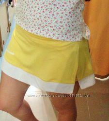 Теннисная юбка-шорты Adidas   т. синяяXL, желтая L