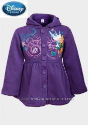 Пальто с капюшоном весна-осень для девочек Дисней фиолетовое на 3-4 года