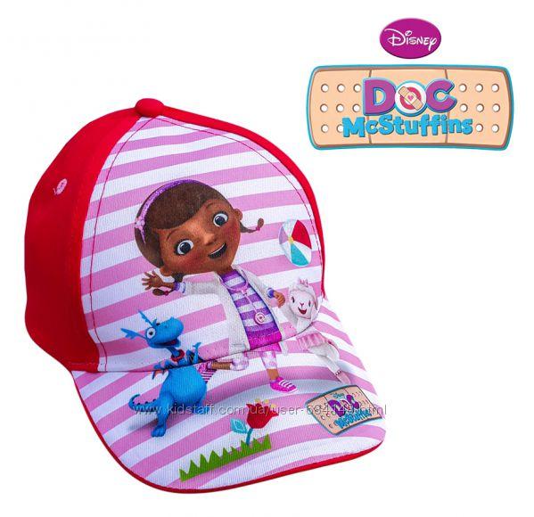 Бейсболка кепка детская красная Доктор Плюшева, бренд Disney